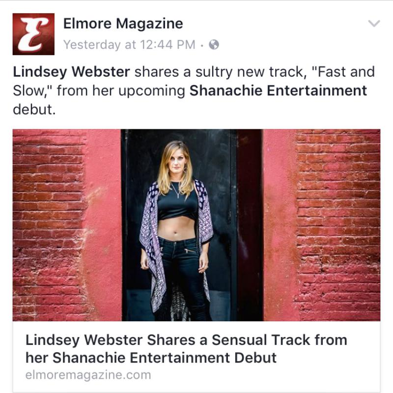 Lindsey Webster Elmore Magazine Fast and Slow